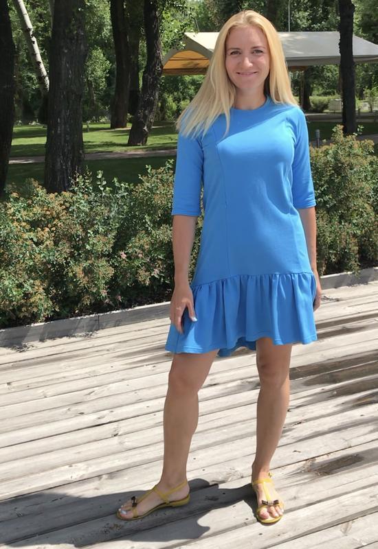 Платье для кормления Голубое