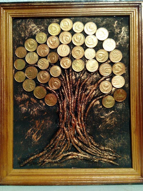 Денежное дерево своими руками из салфеток 71