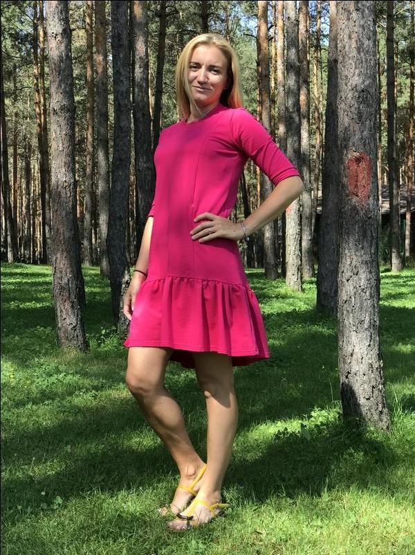 Платье для кормления Малиновое
