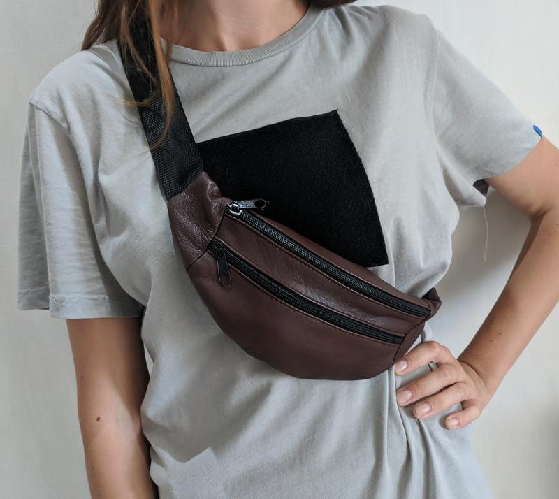2dec389e5a1c Стильная сумка на пояс, бананка 100% натуральная кожа, эксклюзивный цвет.