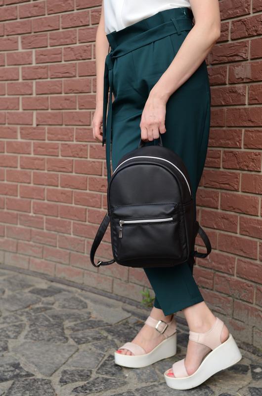 ca5bf2ef5577 Женский рюкзак маленький черный ручной работы купить в Украине. №277665