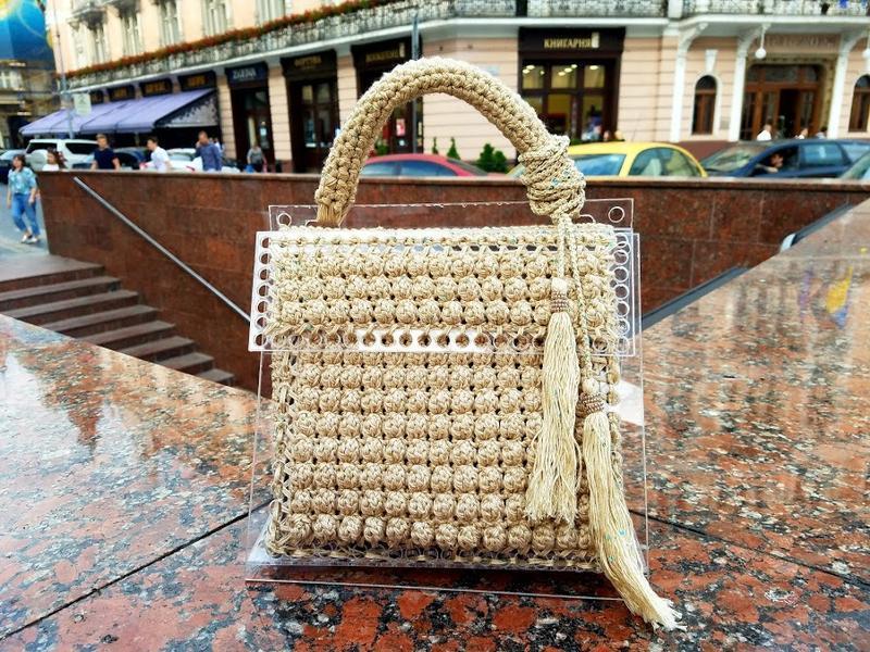 сумка из оргстекла вязаная ручной работы купить в украине 278330