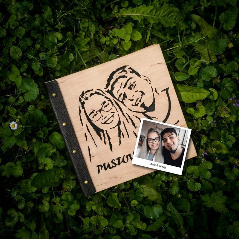 2в1 Фотоальбом + портрет із дерева   Доставка безкоштовна