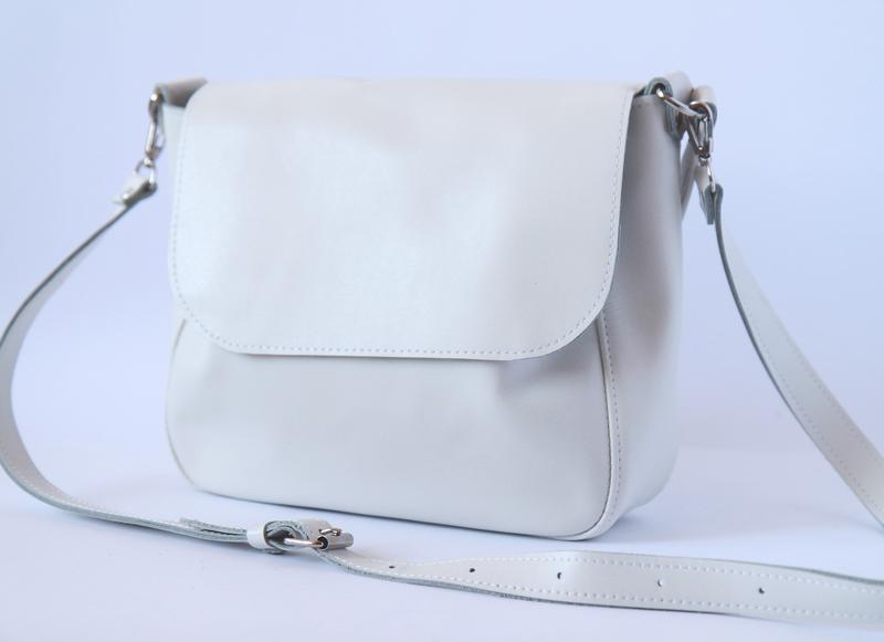 f32f2c426421 Белая сумка из натуральной кожи ручной работы купить в Украине. №285019