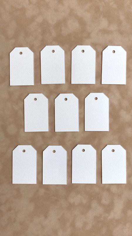 Бирки для упаковки из плотного дизайнерского картона, размер 80*50 мм