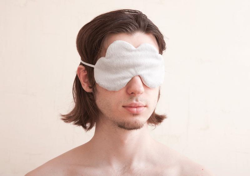Серая маска для сна облако, Подарок парню