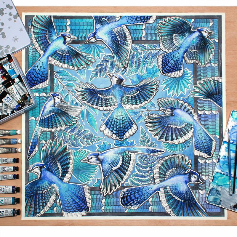 Шелковый платок, Голубой платок, Женский шарф, Шейный платок, Атласный платок, Палантин