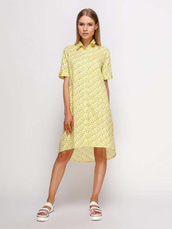 9eb36193ae1 Платье-рубашка в желтый принт ручной работы купить в Украине. №287924