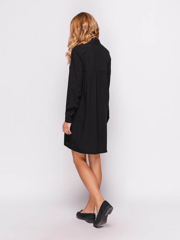 Платье-рубашка черное