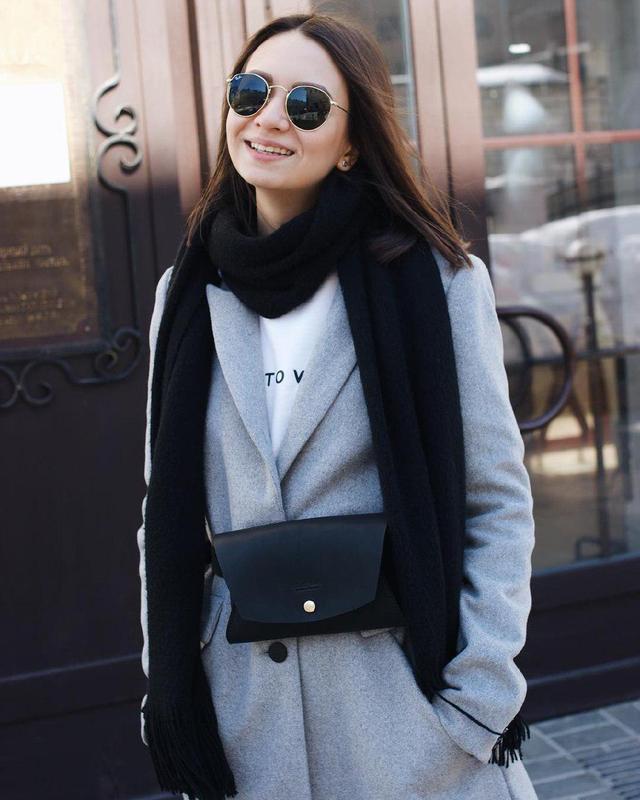 Кожаная женская сумка на пояс - Тренд Сезона! Поясная сумка из натуральной кожи винного цвета.