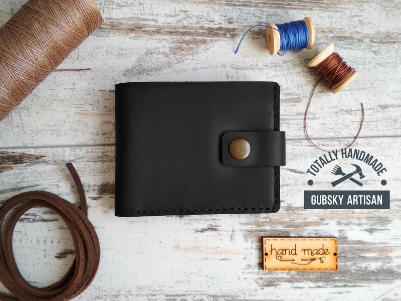портмоне 2 отдела для купюр кошелек Мужской кожаный кошелек