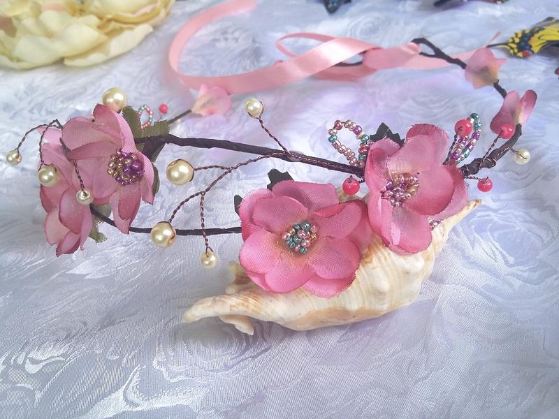 венок из лозы Сакура в цвету