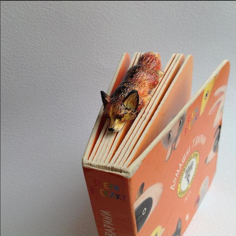 Закладка (скрепка) для книг и блокнотов Лиса
