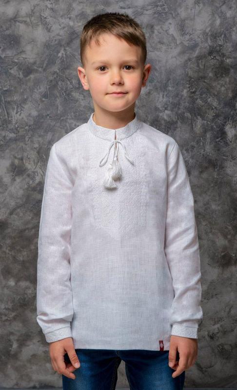 Вишиванка для хлопчика Білим по білому ручной работы купить в ... 63a7af435c336