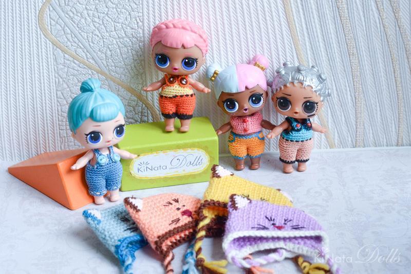 Шапочки-кошечки для куклы ЛОЛ (LOL Surprise)