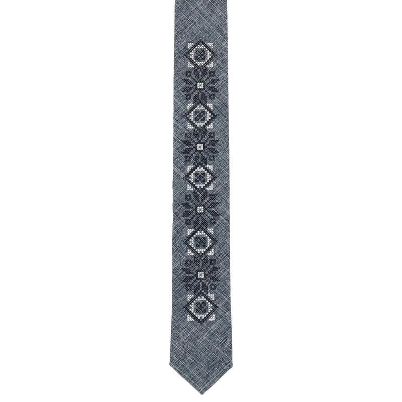 Вузький вишиту краватку №754