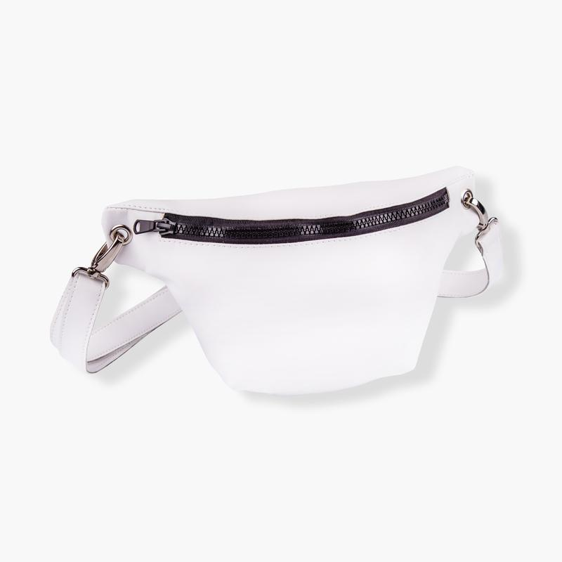 72bfcb83e339 Поясная сумка, сумка на пояс, бананка белого цвета ручной работы ...
