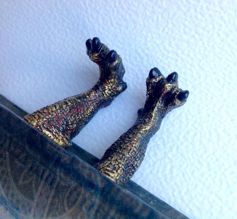 Закладка для книги или блокнота ноги дракона. Dracarys Game of Thrones