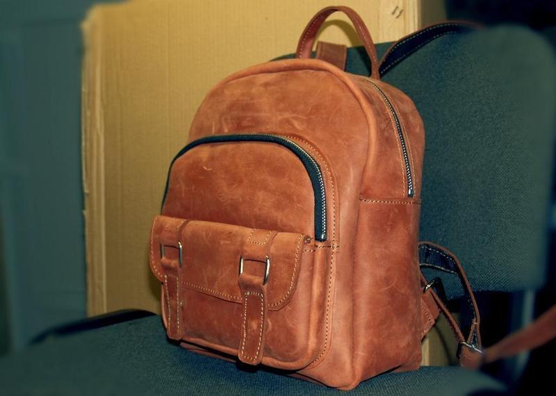 19ca80eab492 Кожаный рюкзак city compact (cognac) ручной работы купить в Украине ...