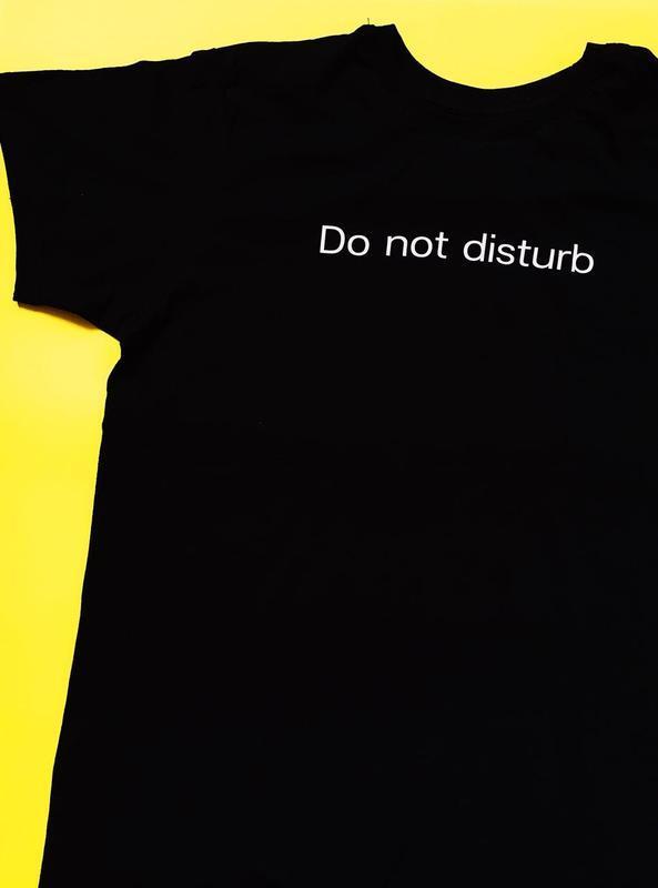 Футболка с надписью «Do not disturb», унисекс