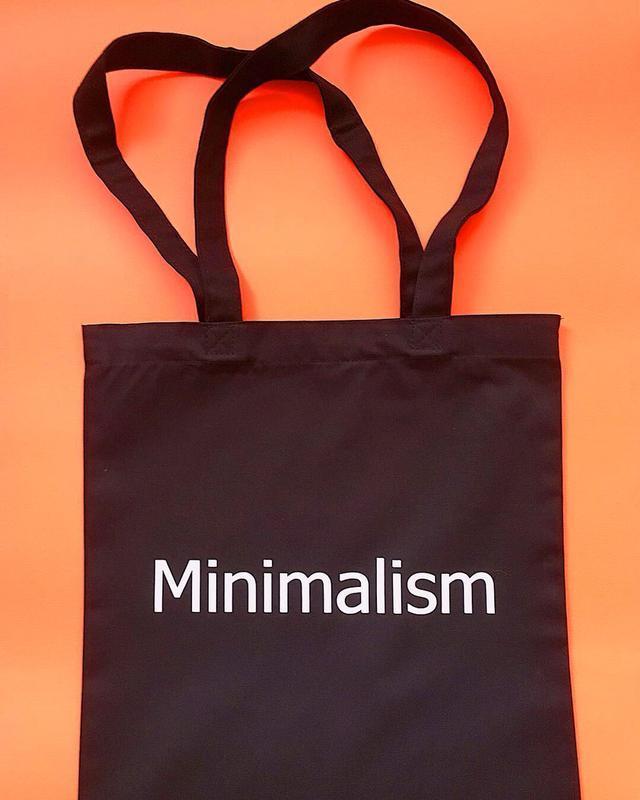Эко-сумка с надписью «Minimalism»