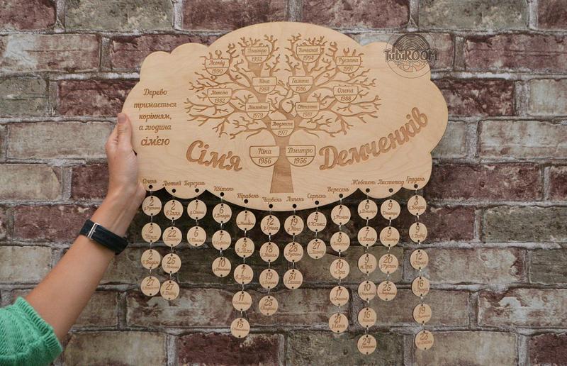 Семейный календарь - генеалогическое дерево