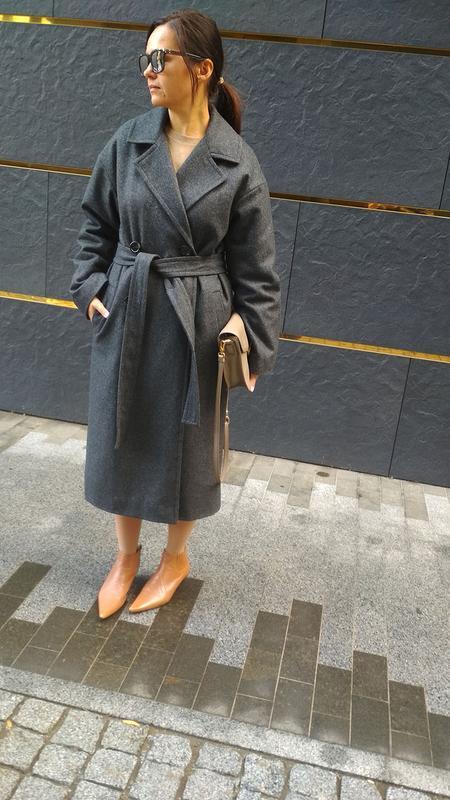 5080c2f8ead Женское пальто утепленное из шерсти