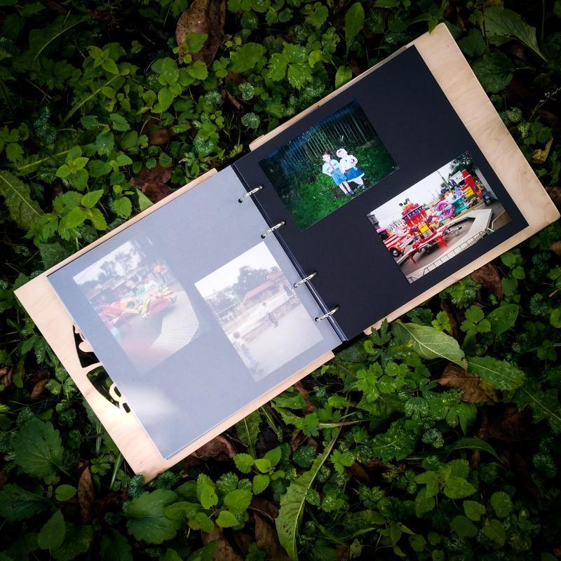 Детский фотоальбом из дерева + ПОДАРОК
