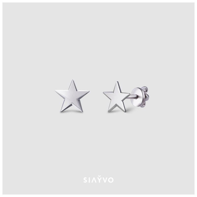 Сережки пусети Star