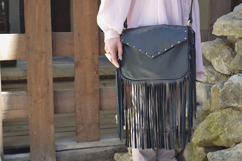Кожаная сумка кроссбоди Сумка через плечо