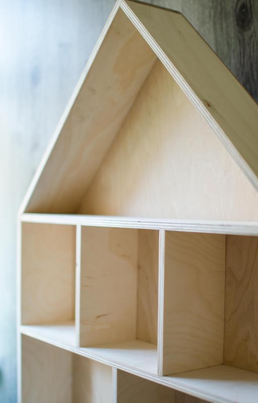 Полка домик заготовка из фанеры с задней стенкой