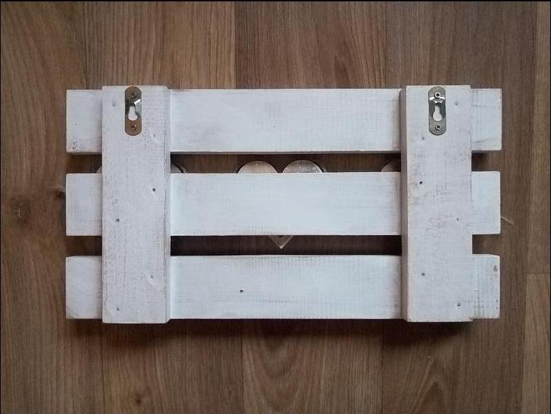 Ключница вешалка настенная белая для ключей Винтажный ключ прованс