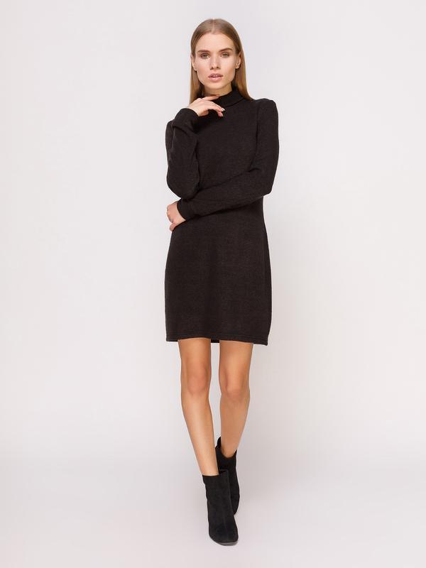 Платье-гольф черное мини (M)