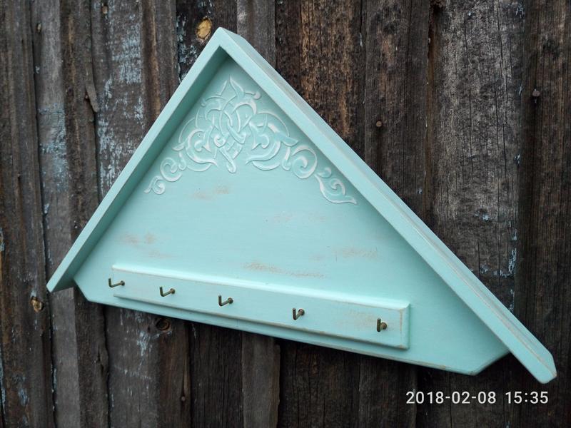 Ключница домик в стиле прованс Органайзер-ключница настенная