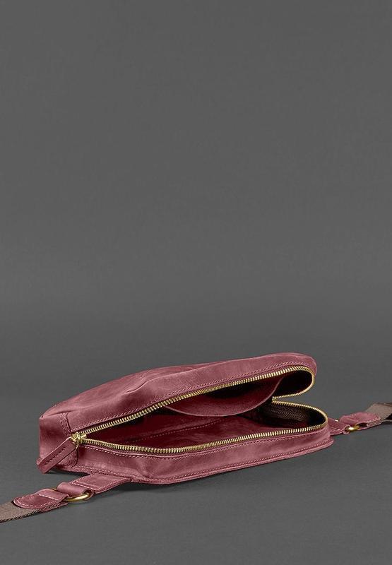 Сумка Поясная Dropbag Maxi (Кожа Crazy Horse) Виноград