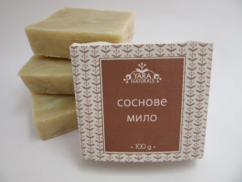 Натуральное мыло на сосновых почках с маслом ши