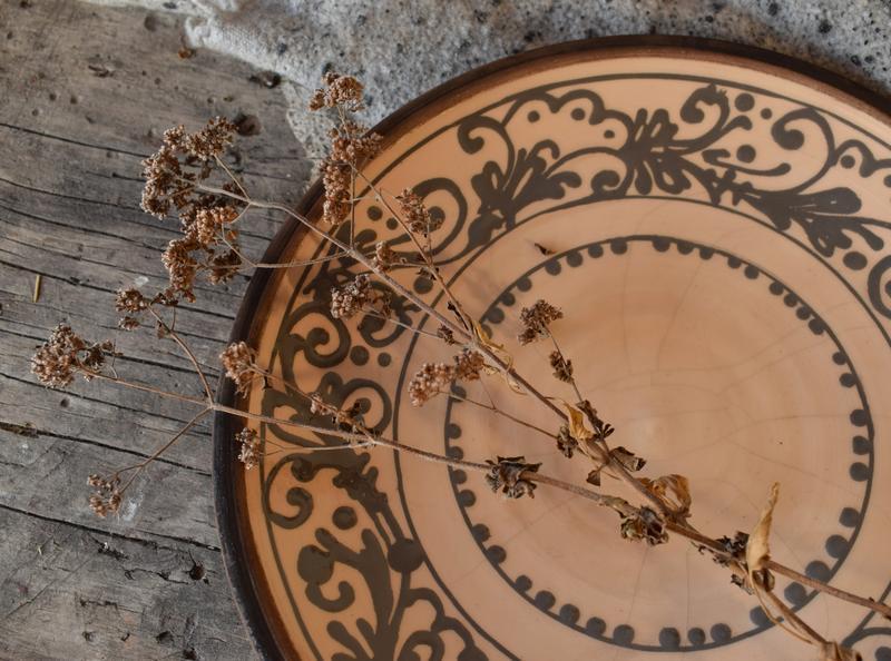 Тарелка для вторых блюд с росписью