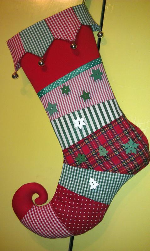новогодний ( рождественский ) сапожок (носок) для подарков
