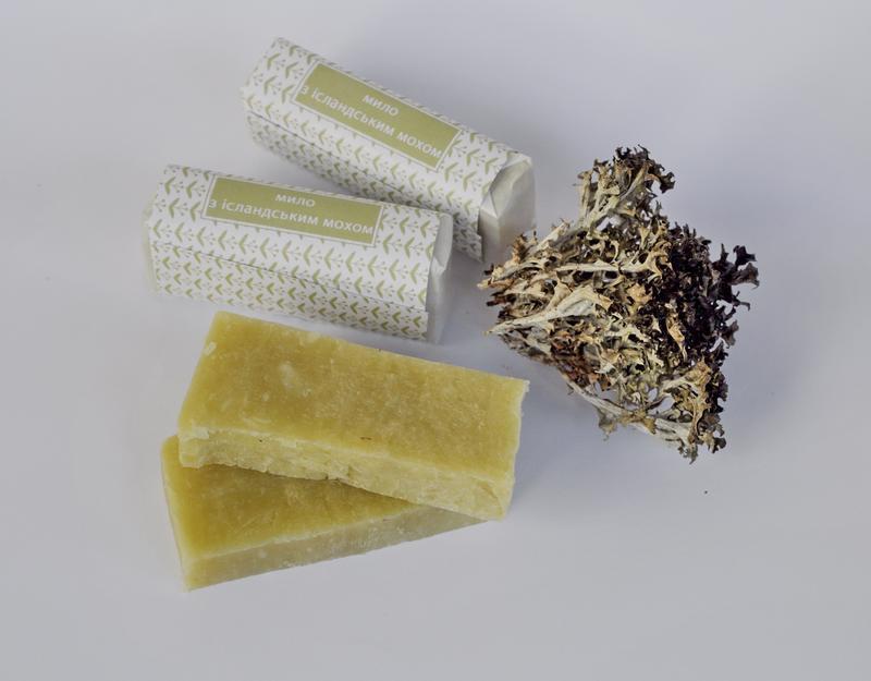 натуральное антисептическое мыло с исландским мхом