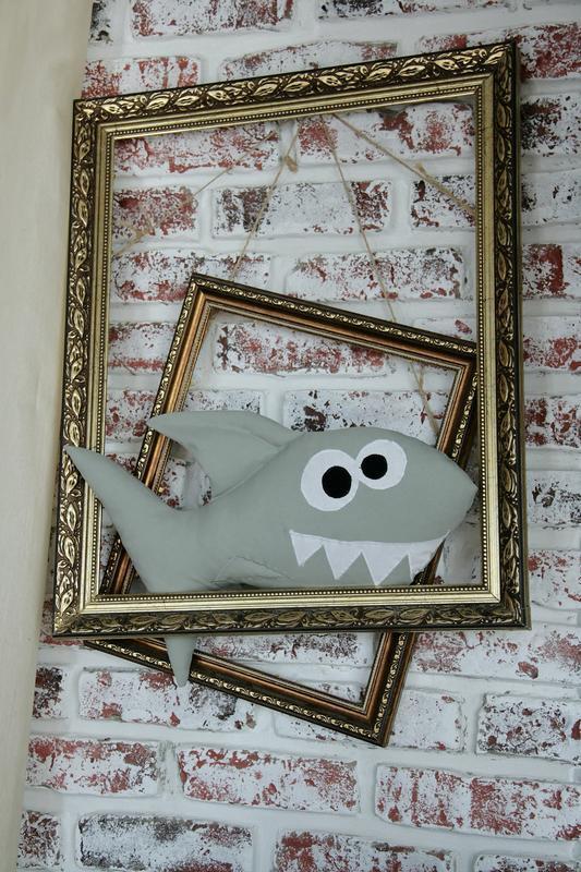 Акула подушка из хлопка