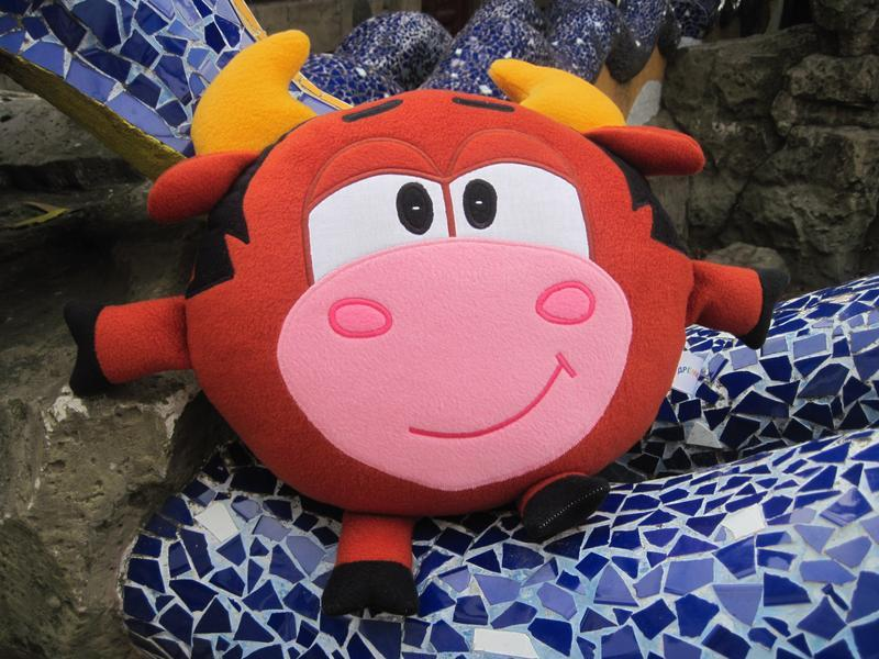 Мягкая игрушка - подушка Смешарик бык Муля Мулентий