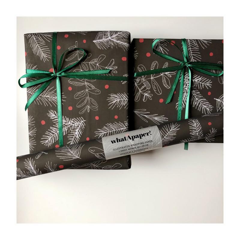 упаковочная бумага для подарков whatApaper! ягоды