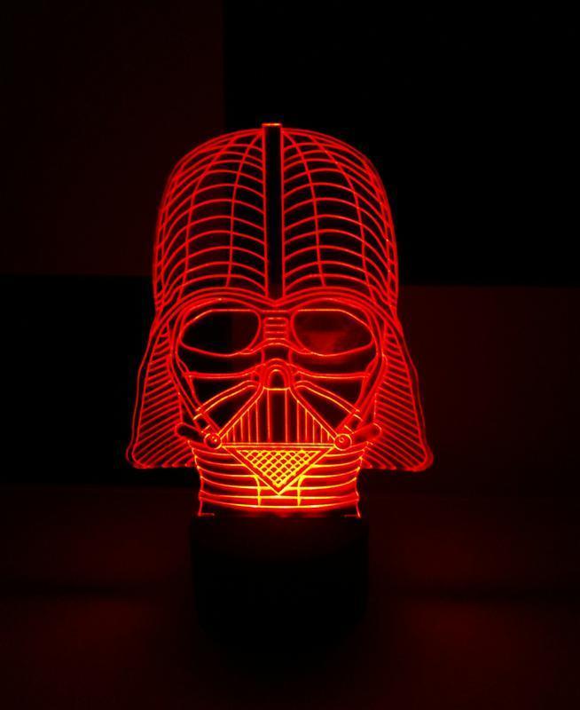 Дарт Вейдер, ночник акриловый, светильник, лампа, звездные войны, сага, оригинальный подарок