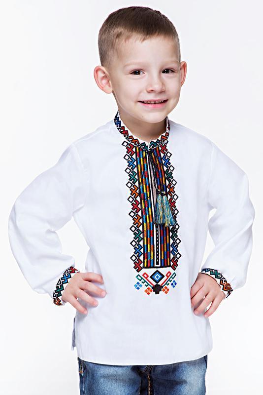 Вишиванка для хлопчика з дизайнерською вишивкою ручной работы купить ... 4ca23f72e32b0