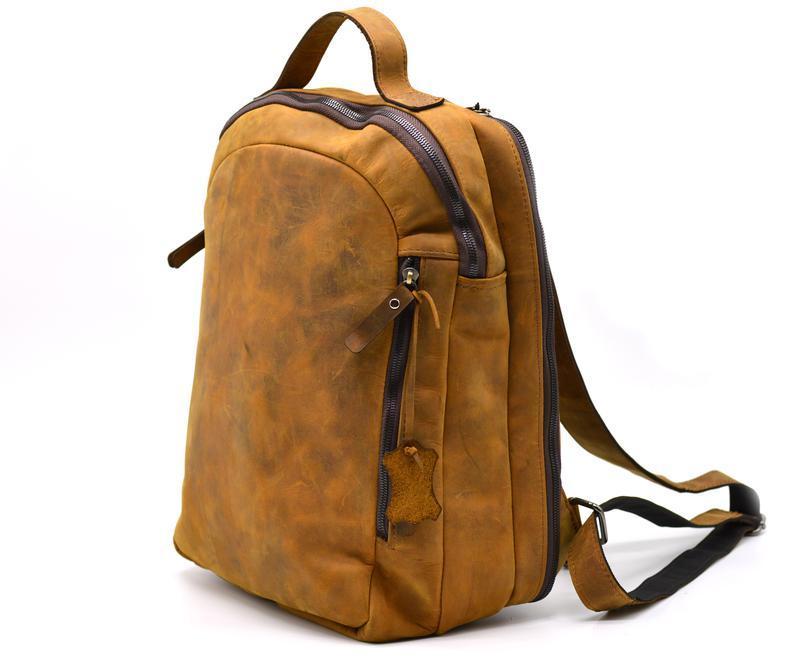 Рюкзак RB-3072-3md, бренд TARWA, натуральная кожа Crazy Horse