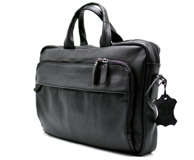 Деловая сумка-портфель для ноутбука GA-7334-1md TARWA, из натуральной кожи c замшевым подкладом