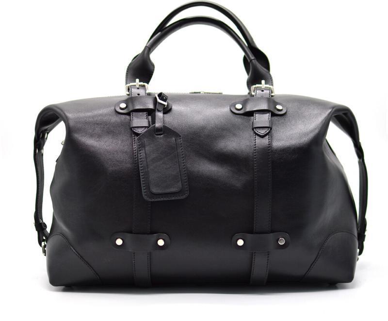 Кожаная черная дорожная сумка ТА-5764-4lx TARWA