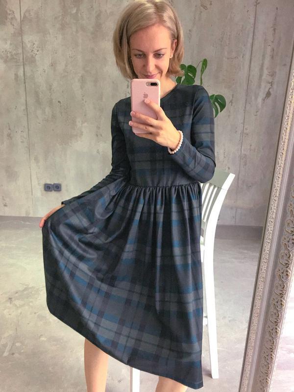 ea7fab25cbc Зеленое платье в клетку