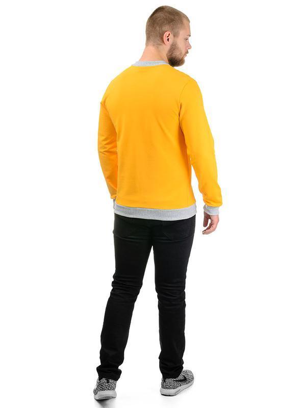 Чоловічий світшот Artystuff жовтий з сірим S