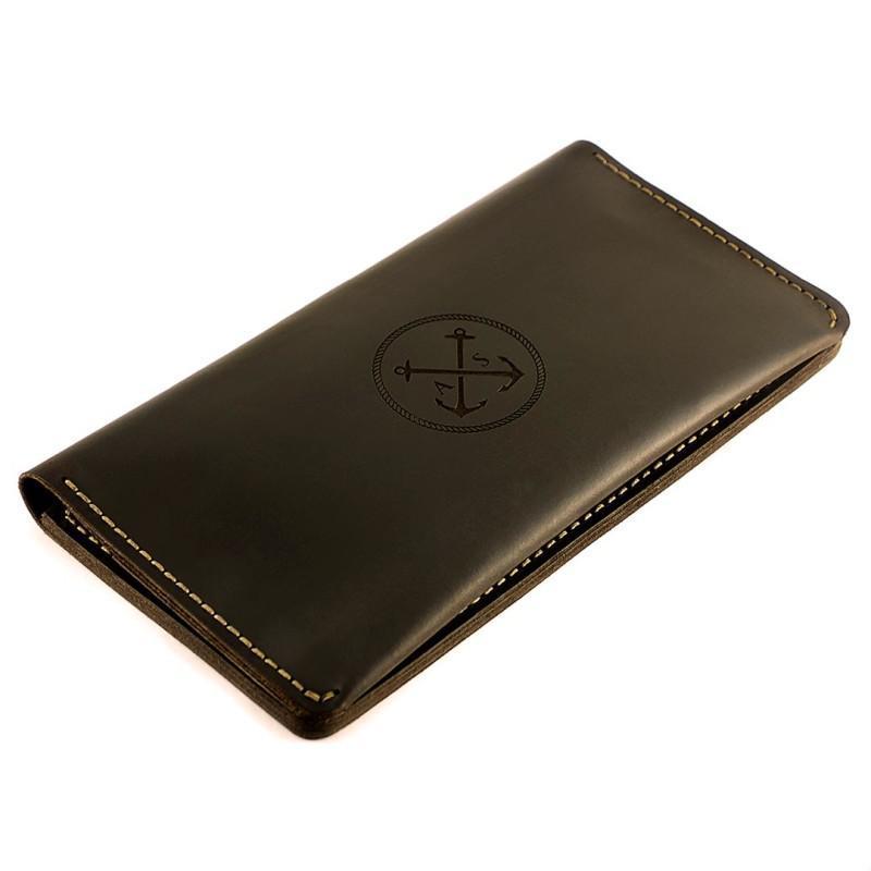 Кожаное портмоне (10 отделений) The Travel + Подарок браслет. Вечная гарантия